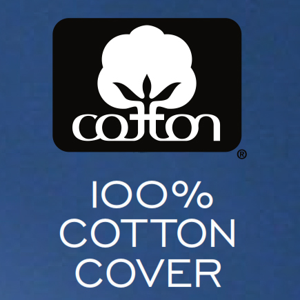 100% Cotton cover